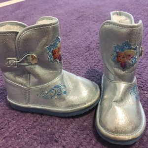 Frozen toddler boots-Anna and Elsa